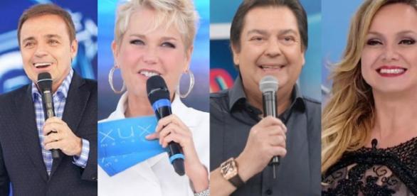 Os apresentadores com maiores salários da TV brasileira