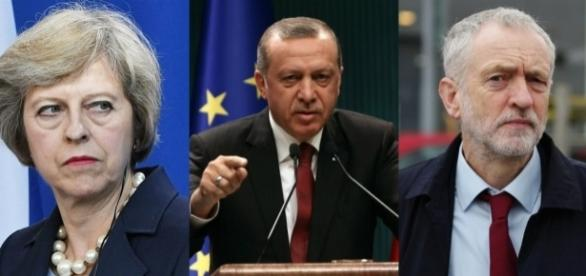 Theresa May and Jeremy Corbyn apparently have different approaches on Turkey.