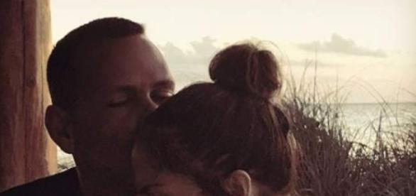 Tierno selfie del romance de Jlo y T-Rod, Fuente: Instagram