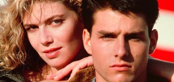 """Kelly McGillis e Tom Cruise fizeram o par romântico de """"Top Gun"""" em 1986"""