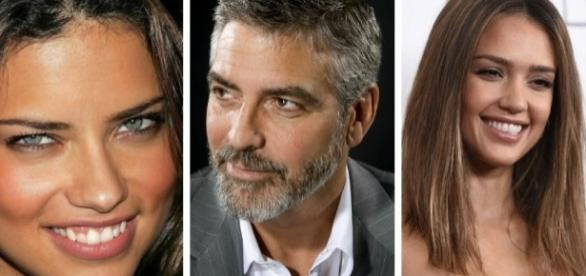 Adriana Lima, George Clooney e Jessica Alba