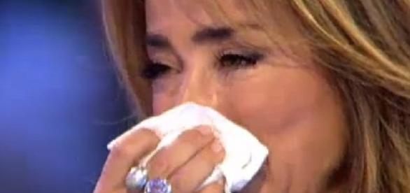 María Patiño llora emocionada tras la sorpresa de Jorge Javier Vázquez - europapress.es