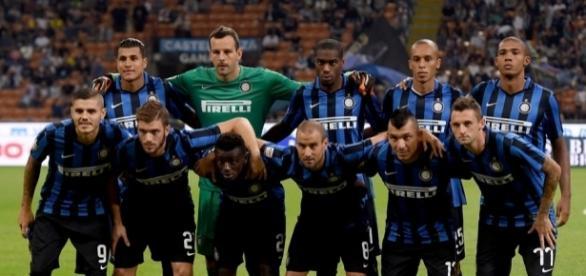 Foto antes de un partido del Inter