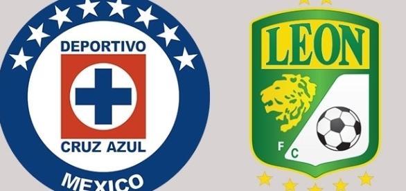 Foto: Logos Cruz Azul y Club León