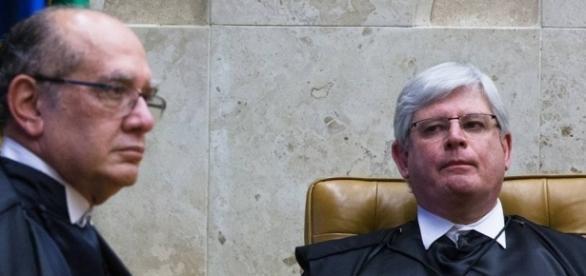 Ministro Gilmar Mendes e Procurador Geral da República, Rodrigo Janot