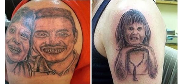 Tatuagens com resultados inusitados