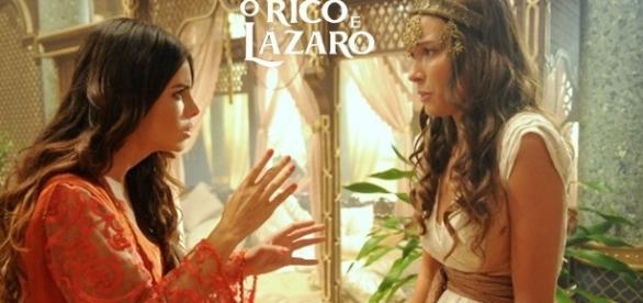 O terror apavora o palácio do rei Nabucodonosor em 'O Rico e Lázaro'
