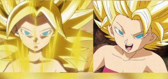 ambas versiones de Califula en Dragon Ball Super