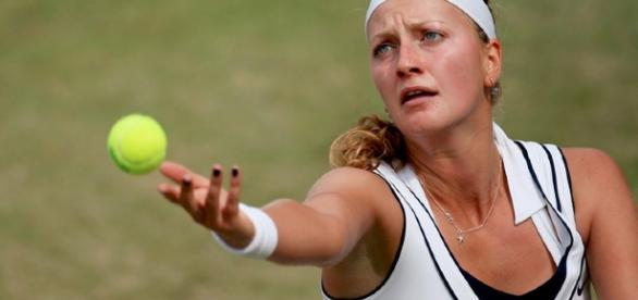 Czech tennis player Petra Kvitova / Photo by Pavel Lebeda via creative commons wiki