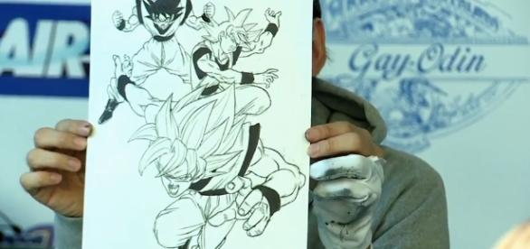 Dibujo realizado por Toyotaro durante la entrevista