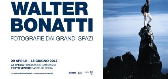 """Locandina della mostra """"Walter Bonatti. Fotografie dai Grandi Spazi"""""""