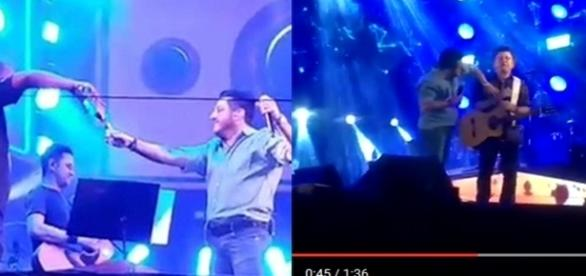 Bruno deixou Marrone sozinho no palco.