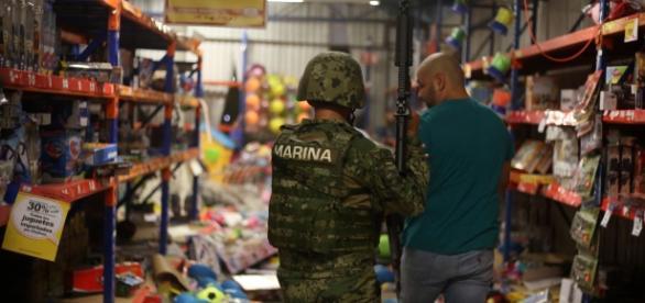 Imagen de saqueos en el Estado de México cuando apenas iniciaba el año 2017.