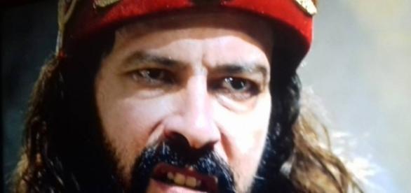 Nabucodonosor se recusa a receber a nova pretendente de Joaquim no palácio (Foto: Reprodução/Record TV)