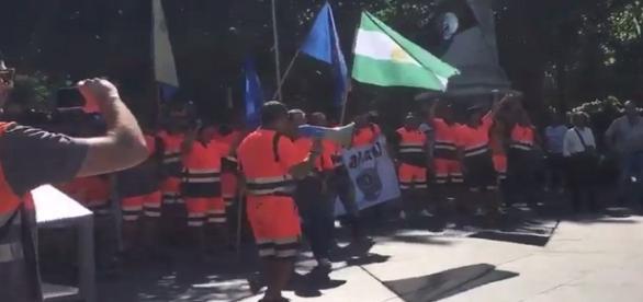 Protesta de taxistas en todo el país