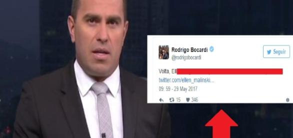 Rodrigo Bocardi, repórter da Globo, bate boca na web (Foto: Google)
