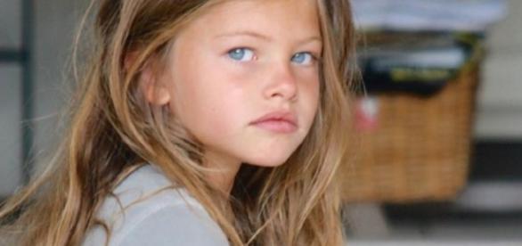 Thylane Blondeau começou a fazer sucesso quando ainda tinha 4 anos (Foto: Google)