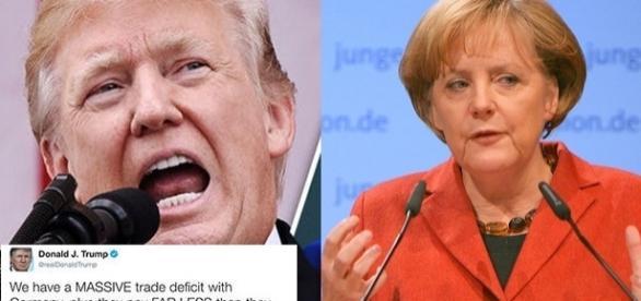 Trump o atacă pe Angela Merkel, acuzând Germania pentru deficitul comercial cu SUA și contribuția NATO