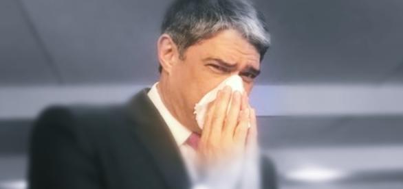 William Bonner aparece gripado - Google