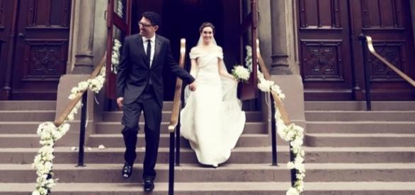 La boda de ensueño de Emmy Rossum - StyleLovely - stylelovely.com