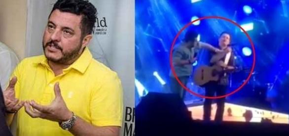 O cantor fez um vídeo pedindo desculpas a população de Patos de Minas pelo ocorrido ( Fotos - Youtube)