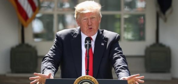 President Donald Trump pulls the United States out of the Paris Agreement. (via - WBUR at wbur.org)