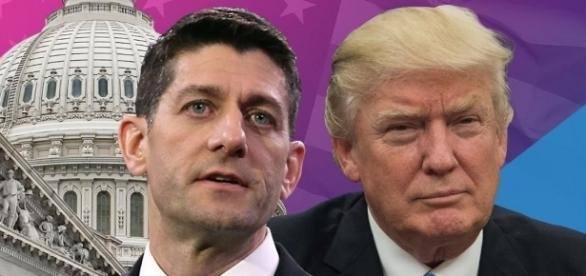 House Speaker Paul Ryan and Donald Trump's health care bill / Photo by yahoo.com via Blasting News library