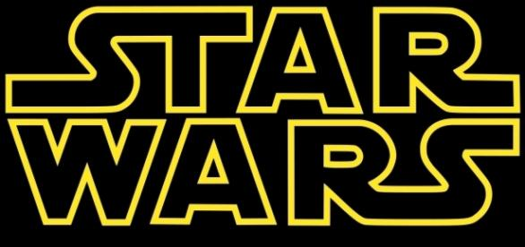 "Logo da franquia ""Star Wars"" do mestre jedi George Lucas"