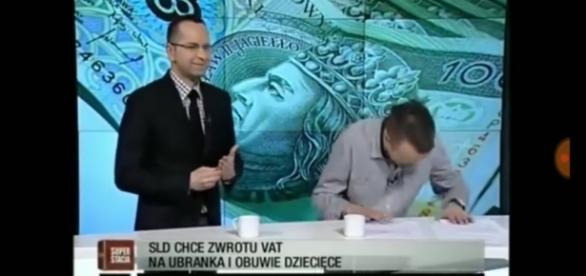 Redaktor nie mógł powstrzymać śmiechu po słowach posła Szczerby.