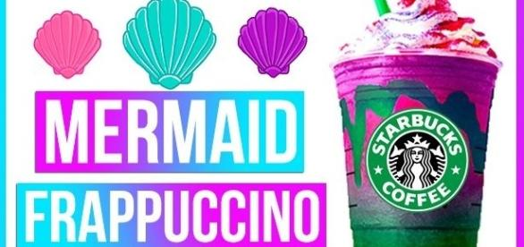 The Mermaid Frappuccino is the latest craze in Starbucks./ Photo via StokedOnLife, YouTube Screenshot
