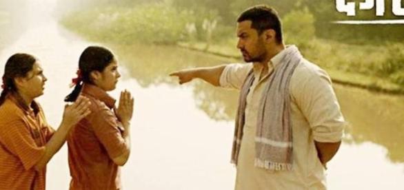 A still from Aamir Khan's Dangal movie
