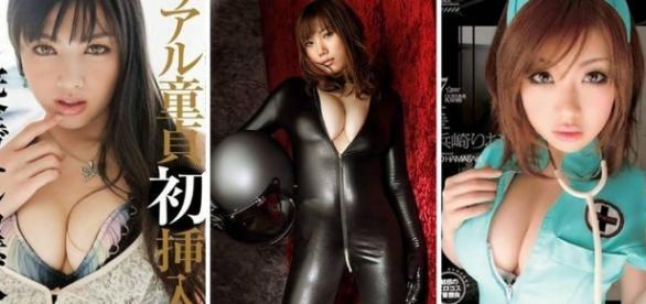 Lindas atrizes japonesas de filmes para adultos.