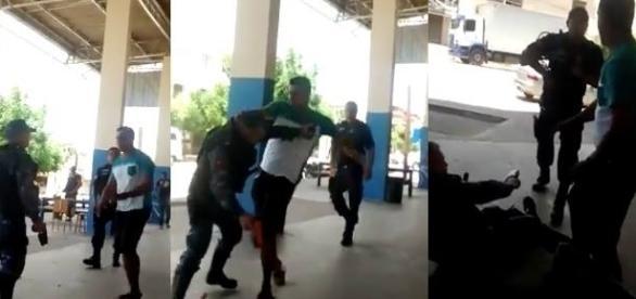 Populares que passavam no local filmaram a briga