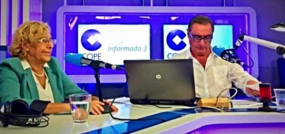 La alcaldesa de la Comunidad de Madrid y Herrera