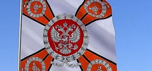 Wzorzec sztandaru brygady współczesnych wojsk rosyjskich