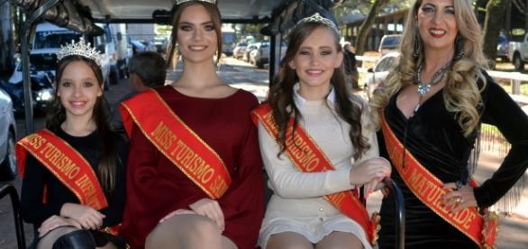 Candidatas de Santo Ângelo, sede do evento, se preparam - também, como anfitriãs da festa