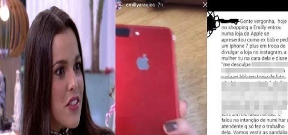 Emilly tentou ganhar um Iphone 7 em um shopping e ficou enfurecida