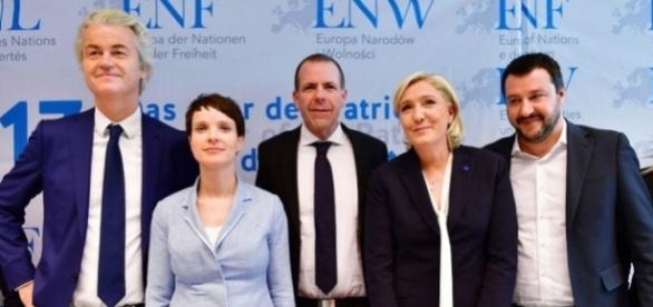 I leader dell'ultradestra europea riuniti a Coblenza, in Germania, lo scorso gennaio