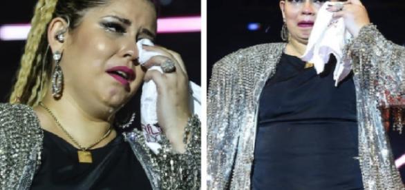 Marília Mendonça chora em show - Google