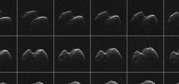 The rubber-duck shaped asteroid was within 1.1 million miles of the Earth, the closest in the next 400 years. Photo courtesy of Blasting News Library.