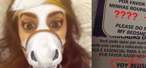 Anitta critica placas em inglês de um hotel e Maringá e população se irrita com atitude da cantora.