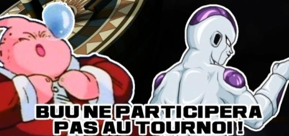 Buu ne participera pas au tournoi, laissant sa place à Freezer !