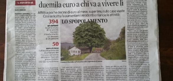 Capa de um jornal com a proposta (Foto: Reprodução)