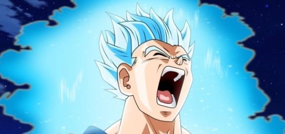 FanArt sobre Gohan su Super Saiyajin Dios Azul