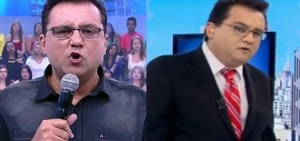 O apresentador 'soltou o verbo' (Fotos - TV Record )