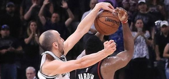 WATCH: Manu Ginobili saves Spurs with gutsy block on James Harden ... - sportingnews.com