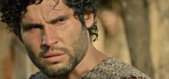 Asher será descoberto nos próximos capítulos da novela (Foto: Reprodução/Record TV)