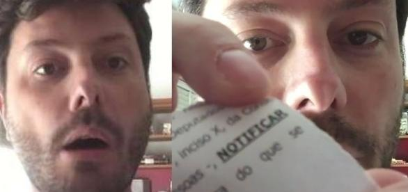 Danilo fez um vídeo intitulado 'Unboxing de Processo' em seu canal (Foto: Reprodução/Youtube)