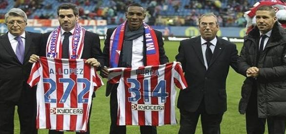 el colombiano vistió la camiseta del Atlético de Madrid en 314 partidos