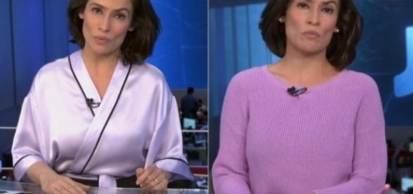 Renata Vasconcellos muda de roupas em minutos - Google